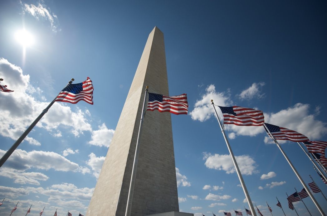 The Washington Monument on the National Mall in Washington, D.C.