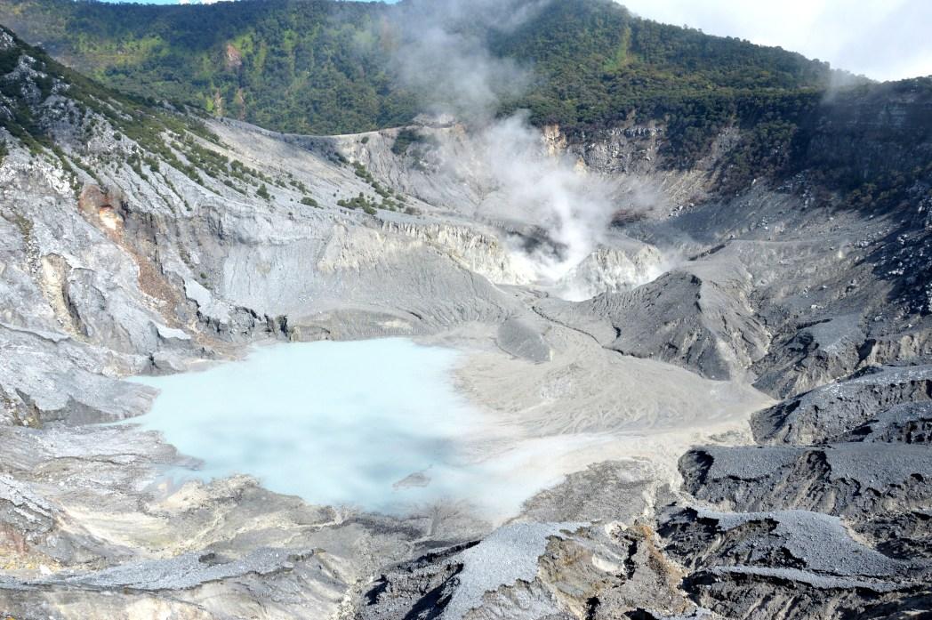 Mount Tangkuban Perahu volcanic crater