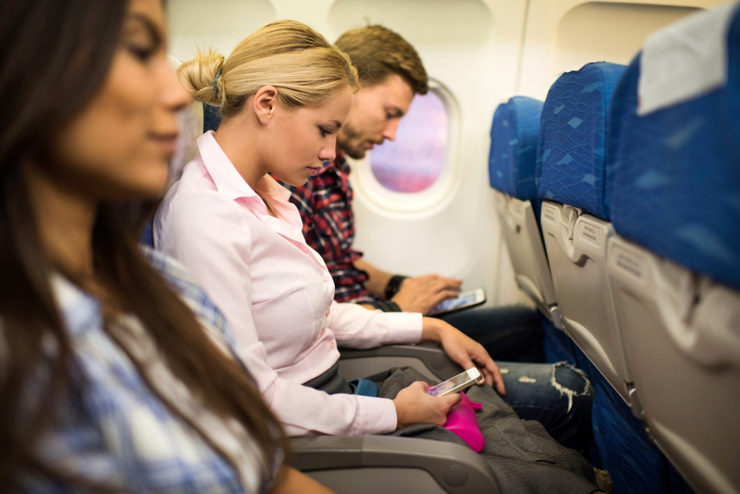 Using your phone on a plane