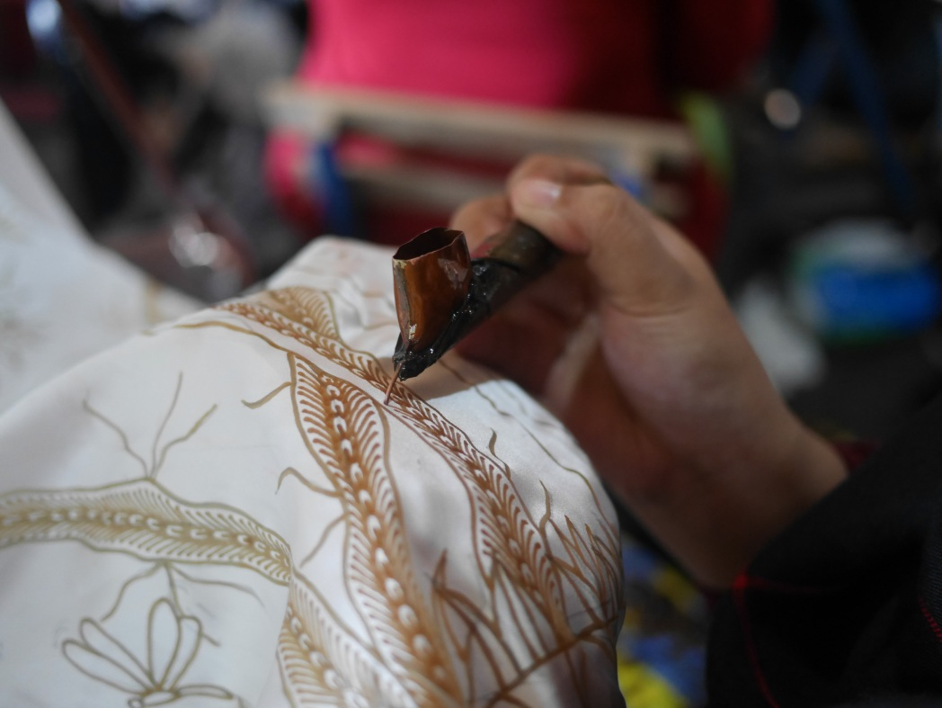 Making batik in Jogja
