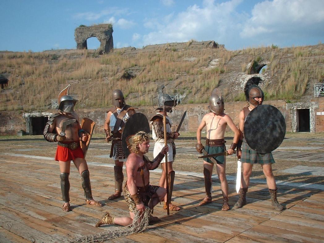 Gladiator school in Rome