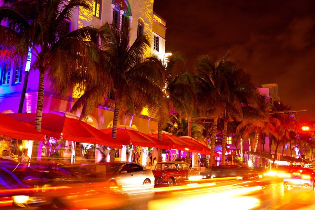 Neon lights of Ocean Drive