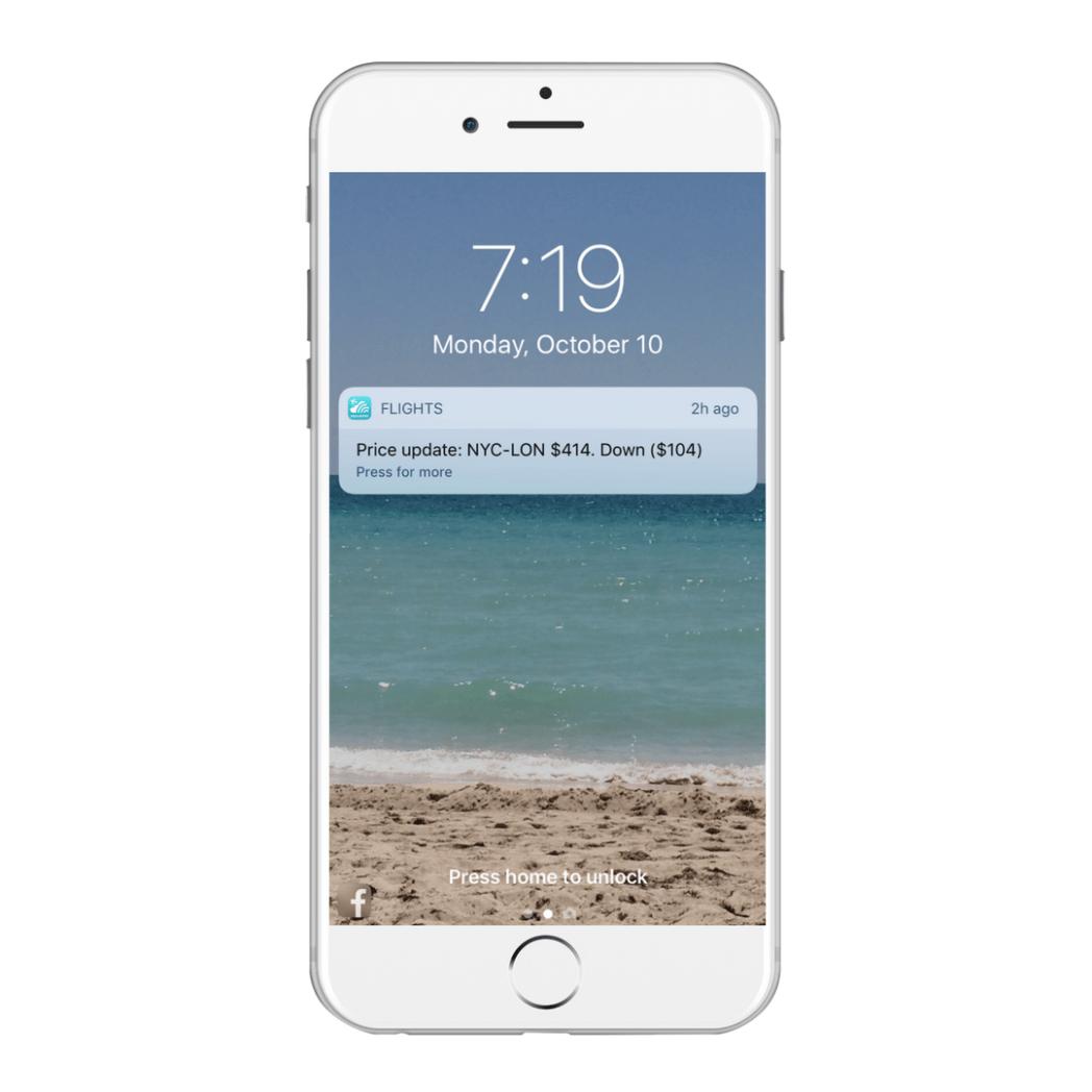 App Push Notification price   alert