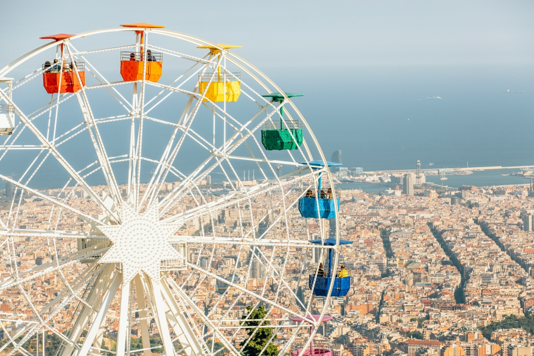 Tibidabo Amusement Park for the whole family in Barcelona