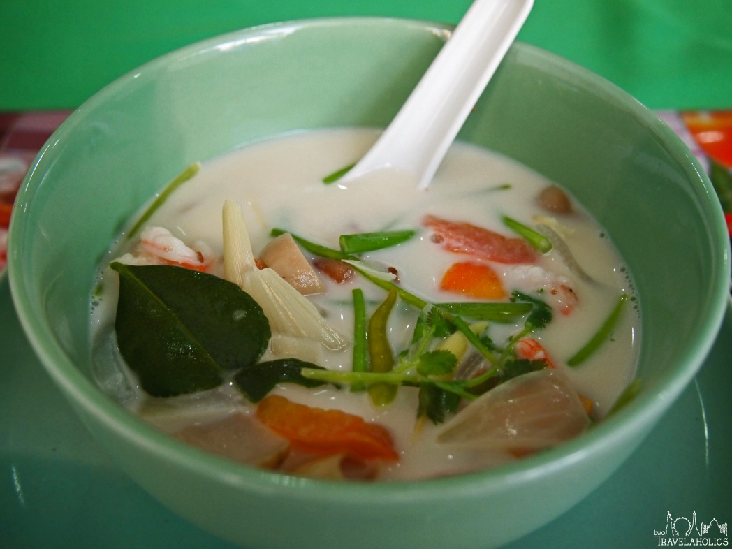 Tom kha soup with shrimp in Thailand