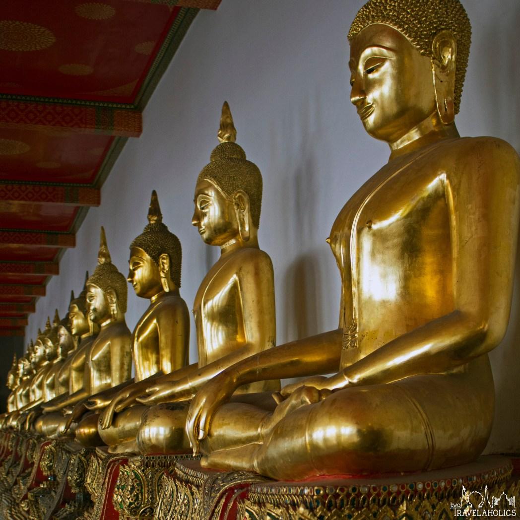 Buddha statues at Wat Pho in Bangkok, Thailand